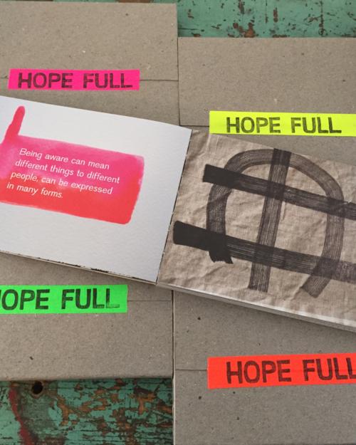 Hope Full Artist Book by Halina Ekberg