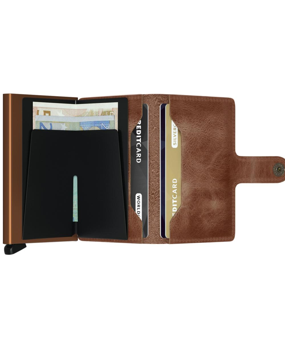 Secrid mini wallet vintage brown